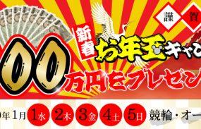 総額100万円が当たる!新春お年玉キャンペーン!