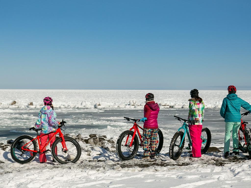 流氷を眺め、雪の上で遊ぶスノーライド(後編)